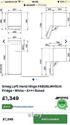 Smeg Fridge White