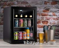 Subcold Super35 LED Black Refurbished C Grade Small Beer Mini Fridge A++