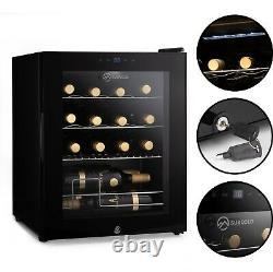 Subcold Viva16 LED Wine Fridge Black 3-18°C 16 Bottle Mini Wine Cooler