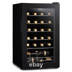 Subcold Viva24 LED Wine Fridge Black 3-18°C 24 Bottle Mini Wine Cooler