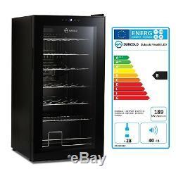 Subcold Viva28 LED Under-Counter Wine Fridge Black 3-18°C 28 Bottle