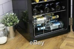 Swan 46L Retro Table Top Cooler Fridge Black SR16210BN