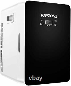 TOPZONE Tabletop Mini Fridge Ice Box Freezer Portable 20L Drinks Beer Cooler LCD
