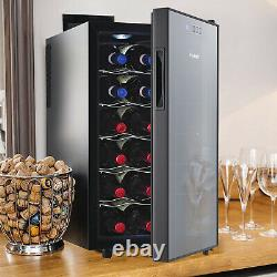 Vinekraft 48L Table Top Mini Drinks Fridge Beer Wine Cooler Glass Cover with LED
