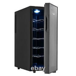 Vinekraft LED Wine Drinks Cooler Cabinet Fridge & Beverage Cooler Glass Cover