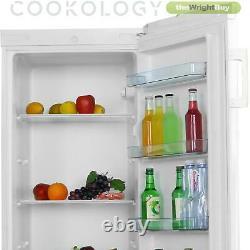White Tall Freestanding Larder Fridge by Cookology CTFR235WH 55x142cm Metal Back
