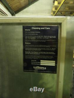 Williams catering freezer. Stainless, upright, single door