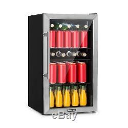 Wine Fridge Beer cooler drinks chiller Bar Refrigerator 98 L 7 Levels A+ Black
